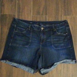 Lane bryant jean shorts